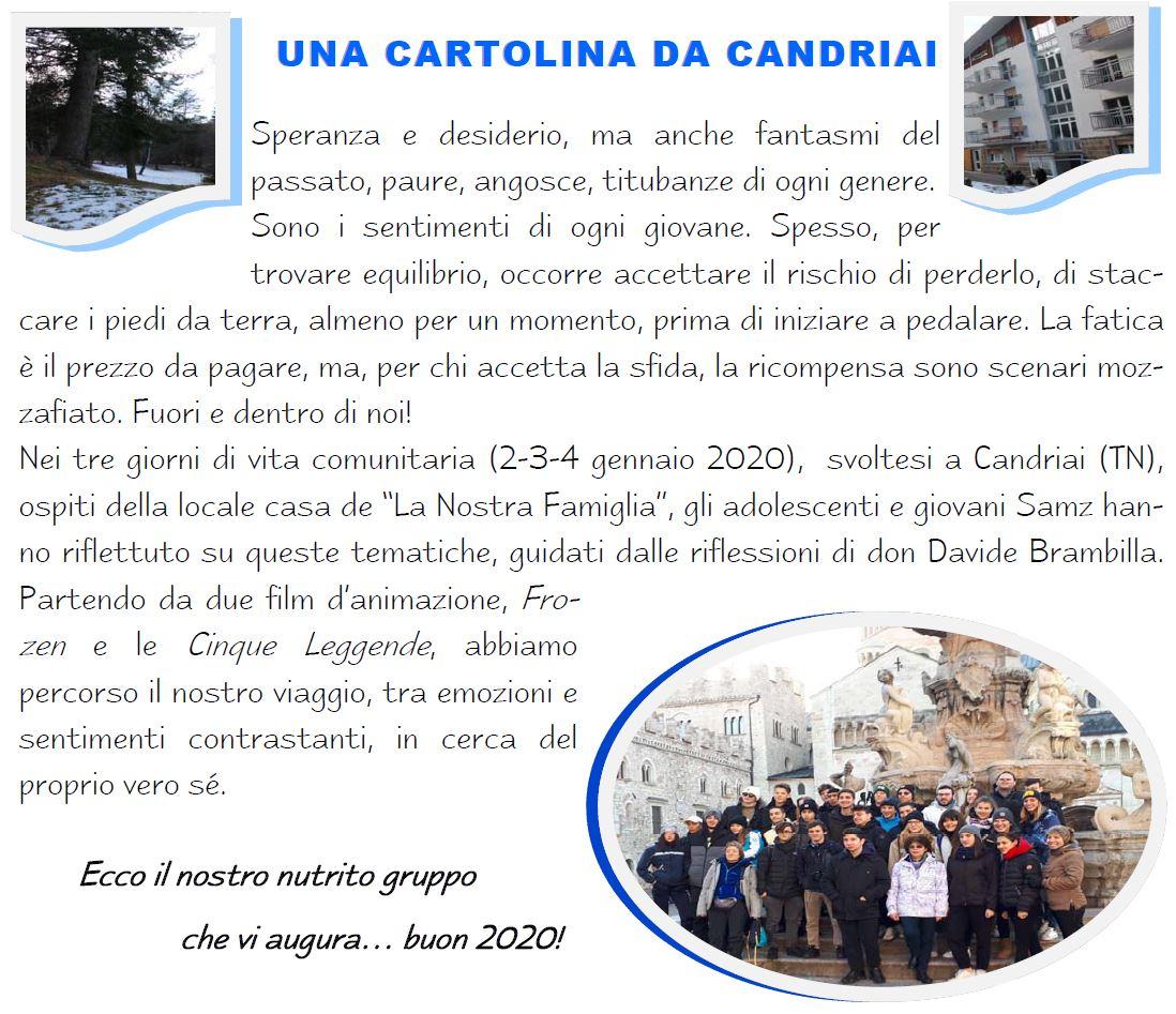 cartolina da Candriai